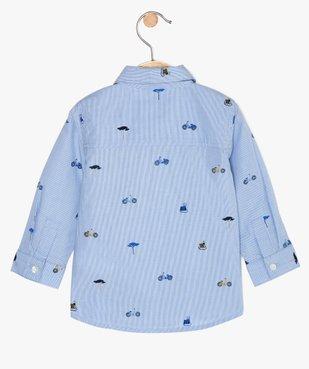 Chemise bébé garçon à rayures et motifs vue3 - GEMO(BEBE DEBT) - GEMO