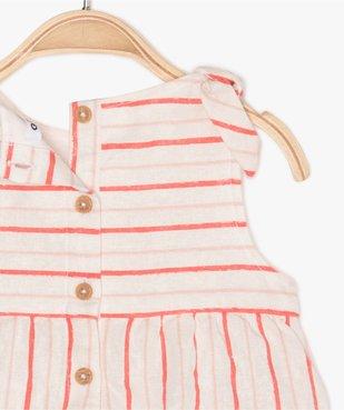 Ensemble bébé fille 2 pièces : combinaison + bandeau vue3 - GEMO (ENFANT) - GEMO