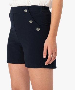 Short femme ample taille haute à pont boutonné vue2 - GEMO(FEMME PAP) - GEMO