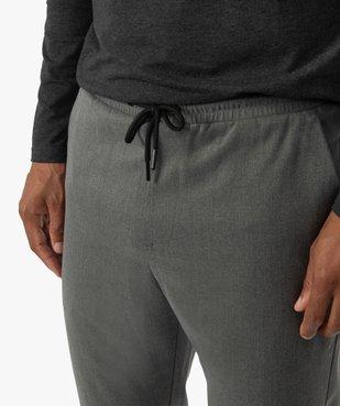 Pantalon homme en maille milano à taille élastiquée vue2 - Nikesneakers (HOMME) - Nikesneakers