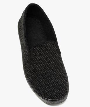 Pantoufles homme style charentaises dessus maille piquée vue5 - GEMO C4G HOMME - GEMO