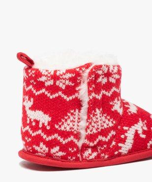 Chaussons de naissance bébé boots de Noël vue6 - GEMO(BB COUCHE) - GEMO