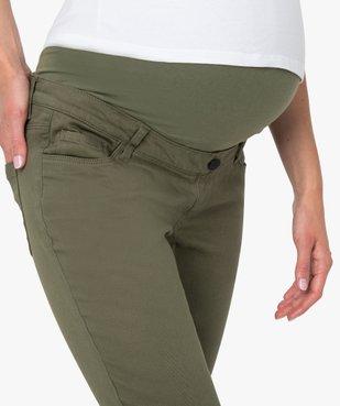 Pantalon de grossesse coupe slim avec bandeau  vue3 - GEMO (MATER) - GEMO
