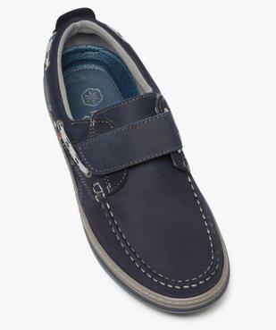 Chaussures bateau homme dessus cuir fermeture scratch vue5 - GEMO (CONFORT) - GEMO
