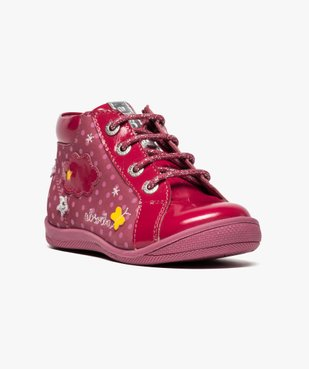 Chaussures montantes en cuir et cuir verni - Absorba vue2 - ABSORBA - GEMO