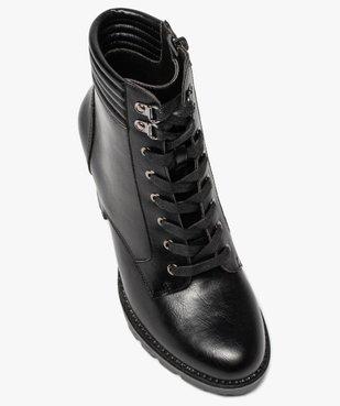 Boots femme à talon col rembourré et semelle crantée vue5 - Nikesneakers(URBAIN) - Nikesneakers