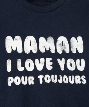 Tee-shirt bébé garçon à manches longues avec message vue2 - GEMO C4G BEBE - GEMO