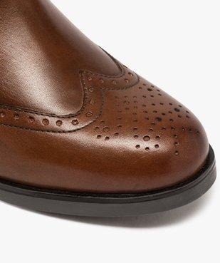 Boots femme style chelsea unis à bout fleuri vue6 - GEMO (CASUAL) - GEMO