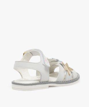 Sandales fille avec étoiles brodées sur le dessus vue4 - GEMO (ENFANT) - GEMO