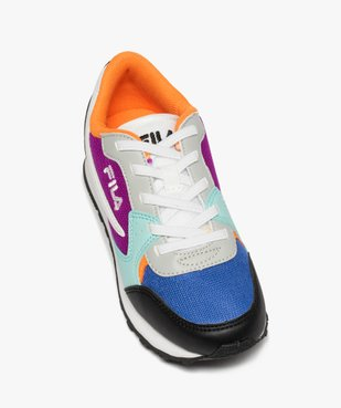 Baskets fille running colorées à lacets élastiques - Fila vue5 - FILA - GEMO