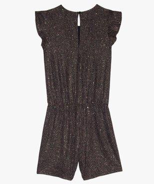 Combishort fille avec rayures pailletées et strass vue3 - GEMO (JUNIOR) - GEMO