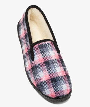 Chaussons femme style charentaises à carreaux vue5 - Nikesneakers(HOMWR FEM) - Nikesneakers