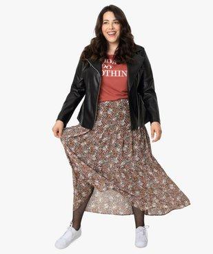 Jupe longue femme à motifs fleuris avec taille élastiquée vue5 - GEMO (G TAILLE) - GEMO
