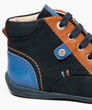 Chaussures bébé garçon semi-montantes dessus cuir - Absorba vue6 - ABSORBA - GEMO