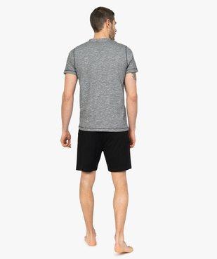 Pyjashort homme bicolore avec haut à col tunisien vue3 - GEMO(HOMWR HOM) - GEMO