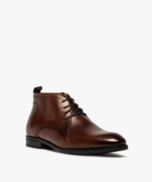 Derbies homme unis chukka boots en cuir – Pierre Cardin vue2 - PIERRE CARDIN D - GEMO