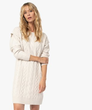 Robe femme en maille torsadée vue3 - GEMO(FEMME PAP) - GEMO