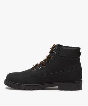 Boots homme à semelle crantée et lacets - Les Supaires à lacets bicolores vue3 - GEMO (CASUAL) - GEMO