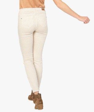 Pantalon femme coupe slim à rayures vue3 - GEMO(FEMME PAP) - GEMO
