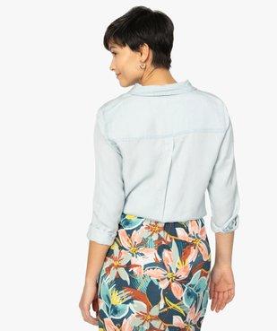 Chemise femme en Lyocell avec large poche poitrine vue3 - GEMO C4G FEMME - GEMO
