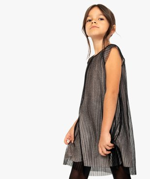 Robe de fête fille en tulle plissé et paillettes vue1 - Nikesneakers (ENFANT) - Nikesneakers