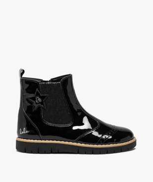 Boots fille chelsea vernies et zippées – LuluCastagnette vue1 - LULU CASTAGNETT - GEMO