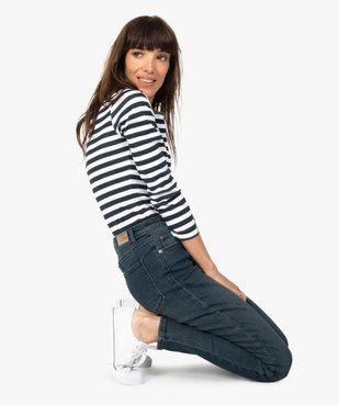 Jean femme en stretch coupe Skinny taille haute vue1 - GEMO(FEMME PAP) - GEMO