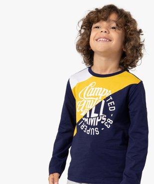 Tee-shirt garçon multicolores à manches longues - Camps vue1 - CAMPS UNITED - Nikesneakers