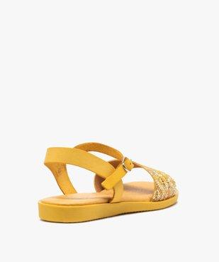 Sandales femme à talon plat dessus en cuir imprimé vue4 - GEMO (CASUAL) - GEMO