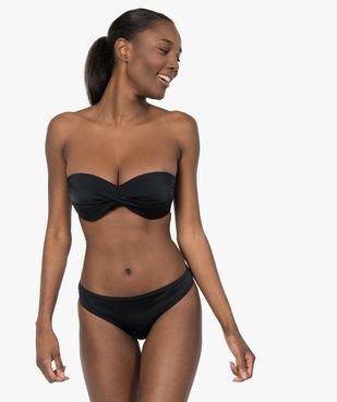 Haut de maillot de bain femme bandeau à bretelles amovibles vue3 - GEMO (PLAGE) - GEMO