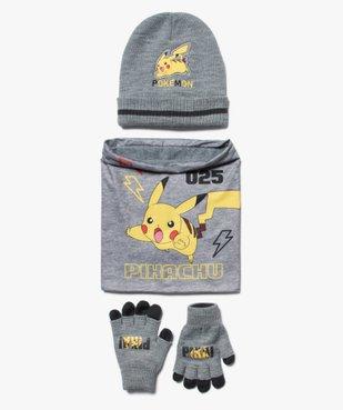 Ensemble garçon : bonnet + gants + écharpe - Pokemon vue1 - POKEMON - GEMO