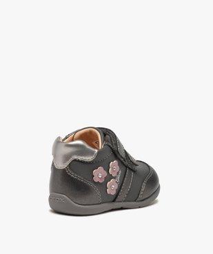 Chaussures bébé fille à scratch décor fleurs - Geox vue4 - GEOX - Nikesneakers
