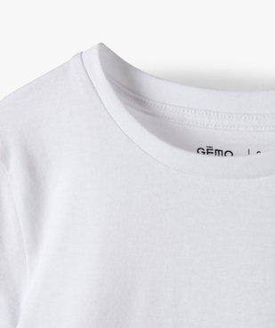 Tee-shirt garçon uni à manches courtes vue3 - GEMO C4G GARCON - GEMO
