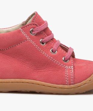 Chaussures premiers pas bébé fille en cuir à lacets vue6 - Nikesneakers(BEBE DEBT) - Nikesneakers
