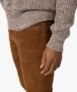 Pantalon homme en velours fines côtes extensible vue2 - Nikesneakers (HOMME) - Nikesneakers