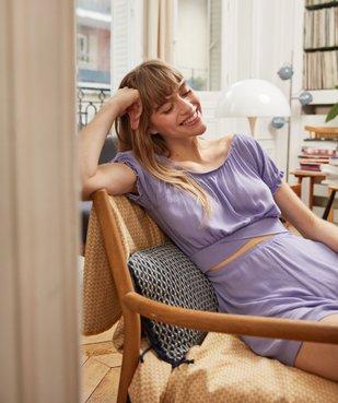 Combishort pyjama femme ouvert - Lulu Castagnette vue5 - LULUCASTAGNETTE - GEMO