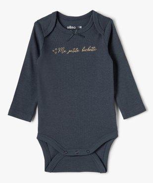 Body bébé fille manches longues avec motif biche (lot de 3) vue3 - GEMO(BB COUCHE) - GEMO