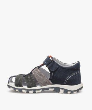 Sandales garçon en cuir bout fermé et fermeture scratch vue3 - Nikesneakers (ENFANT) - Nikesneakers