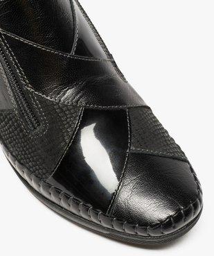 Bottines femme confort à talon compensé et double zip vue6 - GEMO (CONFORT) - GEMO