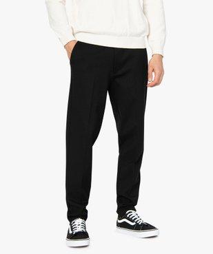 Pantalon homme en maille extensible avec pli sur l'avant vue1 - GEMO (HOMME) - GEMO
