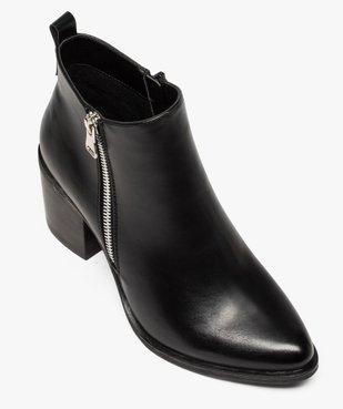 Boots femme à talon avec zip sur le côté vue5 - GEMO(URBAIN) - GEMO