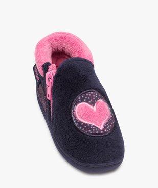 Chaussons bébé fille bottillons zippé brodé cœur - Isotoner vue5 - ISOTONER - GEMO