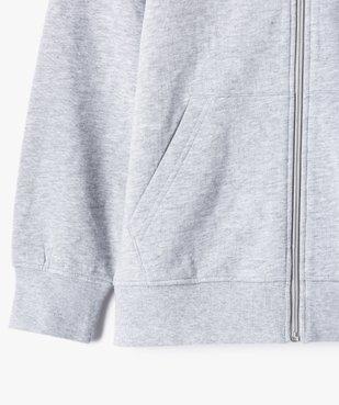 Sweat garçon à capuche avec fermeture zippée vue3 - GEMO (JUNIOR) - GEMO