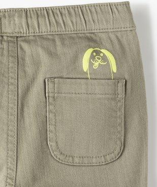 Pantalon bébé garçon en toile avec larges poches plaquées vue2 - Nikesneakers(BEBE DEBT) - Nikesneakers