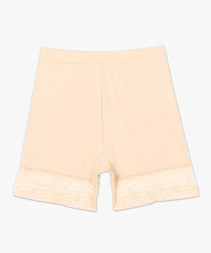Panty femme gainant taille haute en microfibre et dentelle vue4 - GEMO(HOMWR FEM) - GEMO