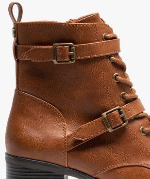 Boots femme unies à talon avec lacets et brides vue6 - GEMO(URBAIN) - GEMO