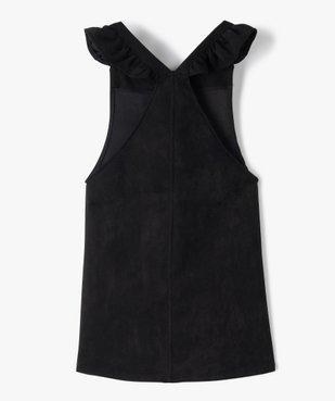 Robe fille en velours extensible à bretelles volantées vue3 - GEMO (ENFANT) - GEMO