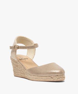 Sandales femme à talon compensé et bout fermé vue2 - GEMO(URBAIN) - GEMO