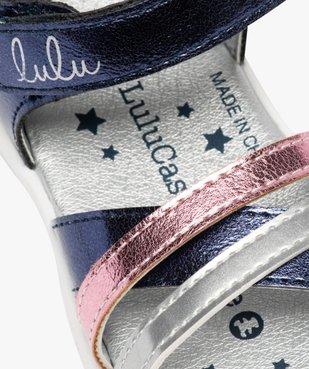 Sandales bébé fille métallisées à scratch - Lulu Castagnette  vue6 - LULU CASTAGNETT - GEMO