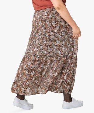Jupe longue femme à motifs fleuris avec taille élastiquée vue3 - GEMO (G TAILLE) - GEMO